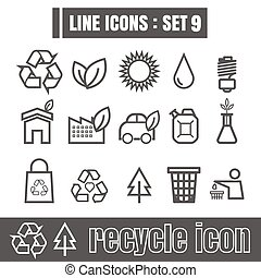 Line icons black set 9. Illustration eps 10 on white background