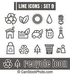 Line icons black set 9. Illustration eps 10 on white background