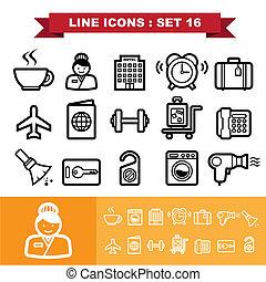 Line icons set 16