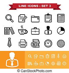 Line icons set 3