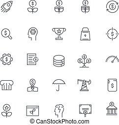 Line icons set. Finance pack. Vector Batch