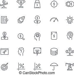 Line icons set. Finance pack. Vector illustration