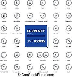 Line icons set. market