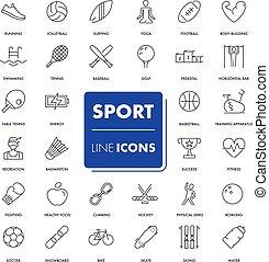 Line icons set. Sport pack.
