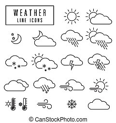 line icons weather