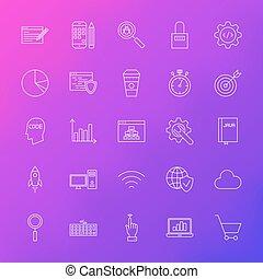 Line Icons Website Development