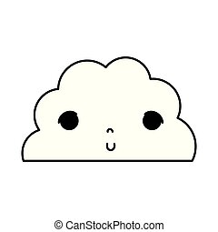 line kawaii cute fluffy cloud weather
