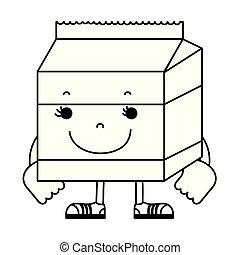 line kawaii happy milk box nutrition