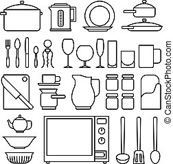 Line kitchen icons