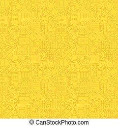 Line Learning Yellow Tile Pattern
