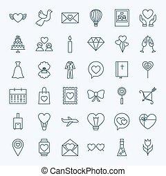 Line Love Icons