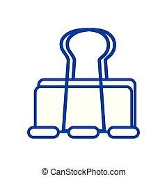line metal clip paper office equipment