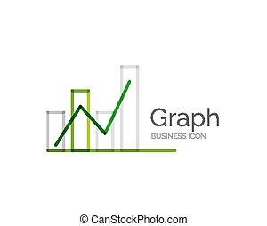 Line minimal design logo graph