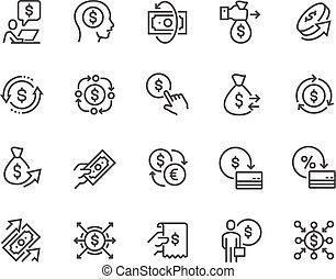 Line Money Movement Icons