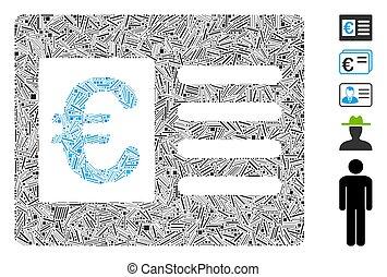 Line Mosaic Euro Bank Account Icon - Dash Mosaic based on ...