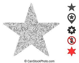 Line Mosaic Star Icon