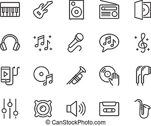 Line Music Icons