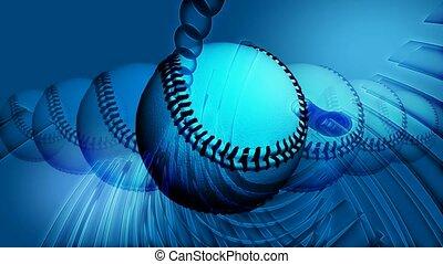 Line of baseballs