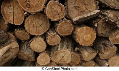 Line of folded logs - Folded logs in production,full hd...