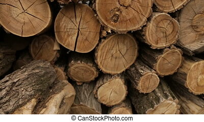 Line of folded logs - Folded logs in production,full hd...