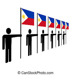 men holding Philippines flags