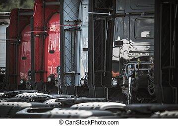 Line of Semi Trucks For Sale