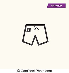 Line pair of shorts vector icon.