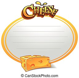 Line paper with cheese illustration