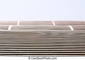 line pattern of a wooden roof