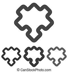 Line puzzle logo design set