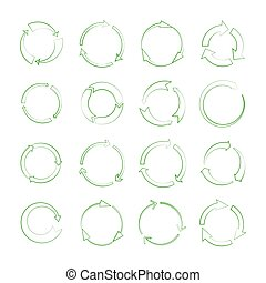 Line recycle arrows vector signs isolated on white background
