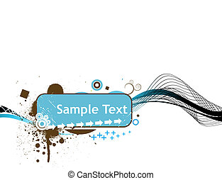 line sample text vector illustration isolated on white