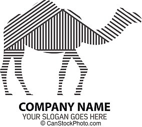 Line Silhouette Camel Vector Logo I