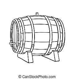 Line sketch of barrel