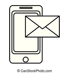 line smartphone technology with electronic e-mail message