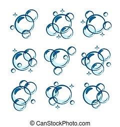 Line soap bubble set