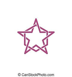 Line Star and Hexagonal abstract logo vector template