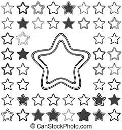 Line star logo design set
