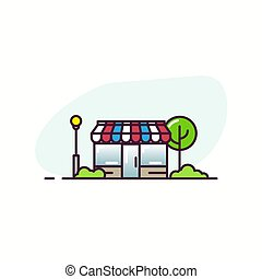 Line store illustration