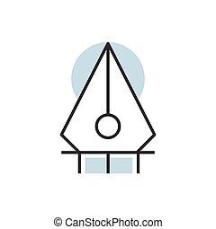line style pen tool icon