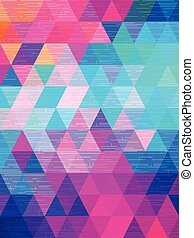 Line texture move on triangle background