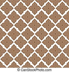 Line thai art pattern illustration.
