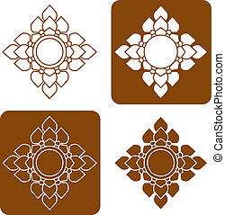 Line Thai art pattern illustration.