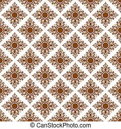 Line Thai art pattern illustration. - Line Thai art pattern...