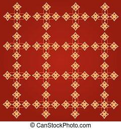 Line Thai art pattern vector illustration