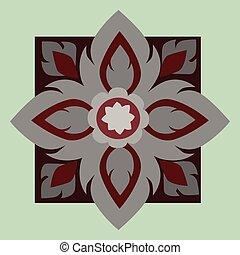 Line Thai art pattern - Vector illustration line Thai art...