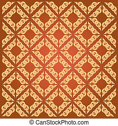 Line Thai art pattern vector illustration