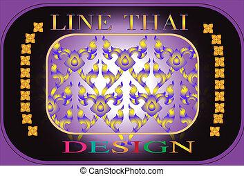line Thai design - Thai design and creative line Thai appy