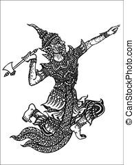 line thai giant - religion, background, angel, art,...