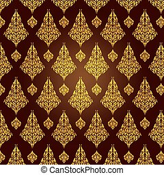 Line Thai - pattern and graphic for decorative design